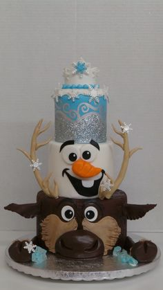 Frozen themed cake by Sweet Confections Cakes