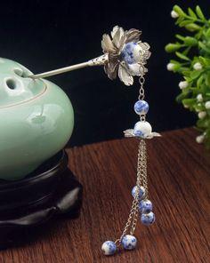 Chinese Style Vintage Wedding Bridal Tiara Pageant 1 Piece Tassels Hairpin