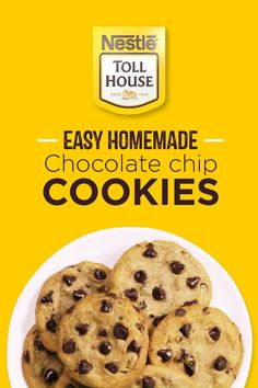 We could use a little bit of comfort in our lives right now. With Nestle Toll House Refrigerated Cookie Dough, don't worry about the prep. Just bake and enjoy a warm, soft and chewy Toll House Chocolate Chip Cookie. Good Healthy Recipes, Baby Food Recipes, Food Network Recipes, Healthy Food, Raw Food, Diet Recipes, Dinner Healthy, Recipes Dinner, Baking Recipes