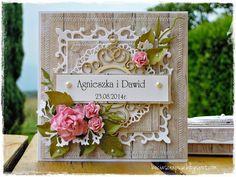 Card flowers Spellbinders S4-318 Nestabilities Fleur de Lis Squares Dies - Becia scrapuje...: na drewienku