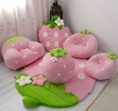 Find images and videos about cute, pink and kawaii on We Heart It - the app to get lost in what you love. Cute Bedroom Decor, Cute Home Decor, Home Decor Furniture, Kids Furniture, Kitchen Cabinets Design Layout, Kawaii Room, Diy Sofa, Flower Pillow, Cute Little Baby
