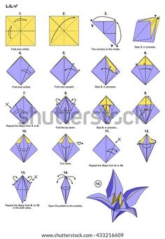 Easy Origami Flower, Instruções Origami, Origami Rose, Origami Butterfly, Useful Origami, Paper Crafts Origami, Origami Design, Easy Oragami, Paper Origami Flowers