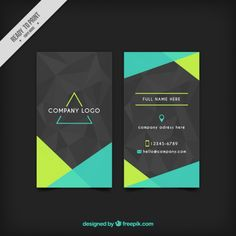 Grey corporative card with green abstrac. Stationery Design, Brochure Design, Flyer Design, Branding Design, Business Branding, Business Card Design, Logos Online, Visiting Card Design, Business Cards Layout