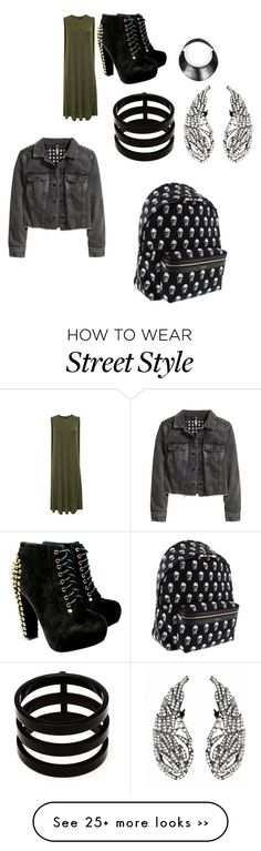 """punk rock style"" by cbunny on Polyvore featuring Repossi, H&M and Yves Saint Laurent"