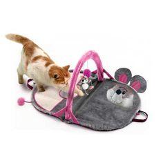 Manta de juegos y actividades para gatos