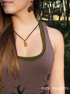 Nature treasure pendant, botanical jewelry by Evita Pulgarcita