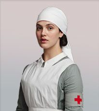 Actress Jessica Brown-Findlay played Lady Sybil Branson (nee Crawley), in Downton Abbey, TV series in series 1 to series 3 (Photo Sybil Downton, Downton Abbey Castle, Lady Sybil, Jessica Brown Findlay, Vintage Nurse, Red Cross, Blouse, Tv Shows, It Cast