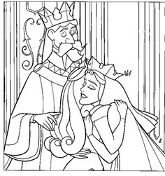 sleeping beauty parents coloring pages printable - Girly Pictures To Colour In