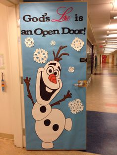 Olaf door decor