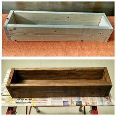 Wood pallet plant holder