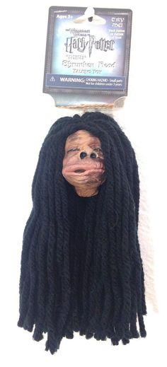 """Universal Studios Harry Potter Shrunken Head Talking Toy Knight Bus Appr. measures 7 inch long counting his hair. Head is approx 3""""x 2 """" Features four different dialog lines from the film including hi"""