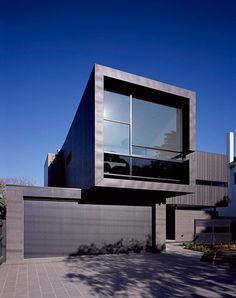 Caulfield House by Bower Architecture dark exterior zinc clads
