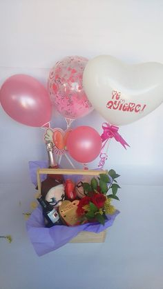 Birthday Surprise For Husband, Birthday Hampers, Surprises For Husband, Pink Candy, Event Decor, Ideas Para, Basket, Party, Gifts