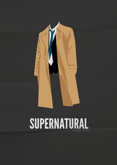 #supernatural season four #minimal #illustration #poster