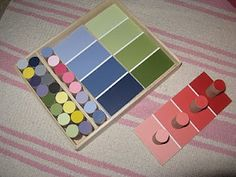 """Making Montessori Ours"": Color Boxes 1 &2 and Color Matching game"