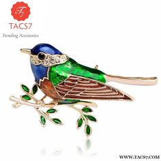 04dab7b10e7 Wholesale Colorful Enamel Birds Brooch Shirt Collar Clip Hat Accessories Gold  Color Animal Brooches Hijab Pins Bijoux Up Broches