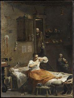 Femme à la puce. Lo Spagnuolo (dit), Crespi Giuseppe Maria (1665-1747) Paris, musée du Louvre.