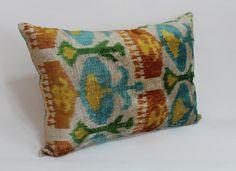 İkat Velvet Pillow Cover 14.5'' x 20'' Decorative by salihtex