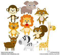 9 Wild animal clip art Digital clip art For by Giftseasonstore, $2.00