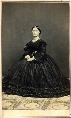 Lady in dark dress - cdv by Sheriff of Sacramento, California