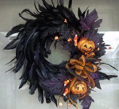 Fall Wreath,Halloween Wreath,wreath