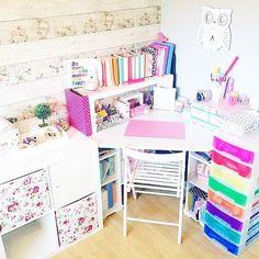 Desk Inspriation, Desk Goals, My Craft Space, Pastel Room, Room Decor
