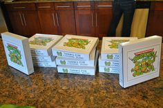 teenage mutant ninja turtles party - favor boxes