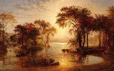 Autumn on thw Susquehanna (Jasper Francis Cropsey - 1859)