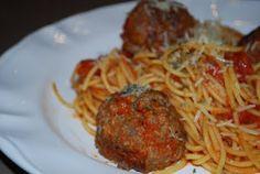 Spaghetti and Meatballs rice, spaghetti, meatbal, noodl, recip, pasta