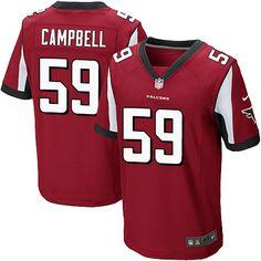 Men's Nike Atlanta Falcons #59 De'Vondre Campbell Elite Red Team Color NFL Jersey