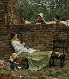 """Gossip"" by John William Waterhouse"