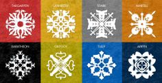 """Game of Thrones""-inspired snowflake patterns"