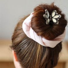 Here's how to make a cute padded fabric wrap to wind around a bun or through other hairstyles, for a unique look!
