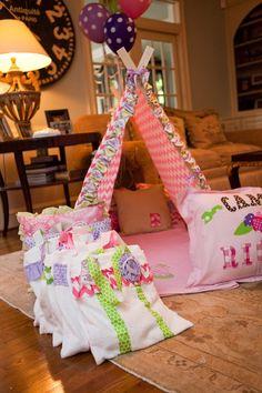 emily maynard glam camping birthday party ricki custom tent