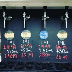 On Tap:  Table Beer - 3.0% #kernelbrewery  Pale Ale Citra - 5.1%  IPA Mosaic Nelson Sauvin - 6.7% Session IPA Mosaic Ella Chinook @badseedbrewery
