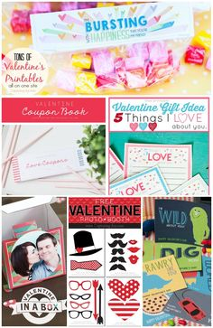 Get your whole family ready for Valentine's Day with these Valentine's Day printables and gifts!  Capturing-Joy.com