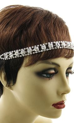 'RONI' CRYSTAL STRETCH HEADBAND HEADPIECE Headpiece, Stretches, Band, Crystals, Collection, Fashion, Sash, La Mode, Head Piece