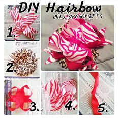simple easy diy hairbow i created...its also on my blogger @mikathecraftlady