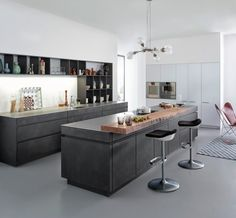 Concrete kitchens from Leicht
