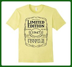 Mens 70th Birthday Gift T-Shirt - Born in 1947 Turning 70 Shirt Large Lemon - Birthday shirts (*Amazon Partner-Link)
