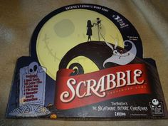 Nightmare Before Christmas Scrabble Game 100% COMPLETE 2007 Limited Edition