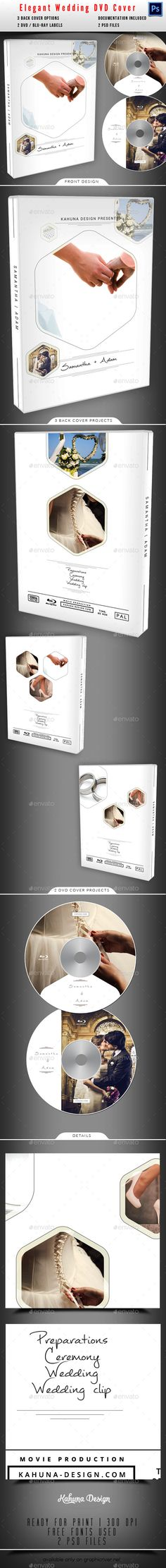 Wedding DVD Cover Template 17 Template, Psd templates and Wedding - cover template