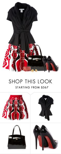 """""""STYLE THIS SKIRT"""" by mcsp ❤ liked on Polyvore featuring Alexander McQueen, Oscar de la Renta, Marc by Marc Jacobs, Christian Louboutin and Charlotte Russe"""