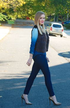 Canadian Tuxedo (featuring heels from Stylicity partner Nine West)