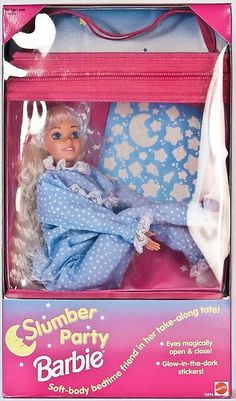 Slumber Party Barbie.. Omg I was obsessed with making her eyes close using a warm wash cloth lol