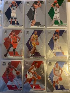 Lot of 9 cards. Everything you see you get. Basketball Cards, Nba Basketball, Nba Sports, Trading Cards