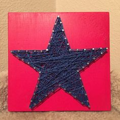 This listing is for a made to order string art sign with Various of sizes and will be painted Red with Blue string and outlined white unless otherwise requested. Please list your color choice in the S