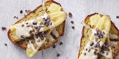 Tahini, Banana + Cacao Nib Toast via @iquitsugar