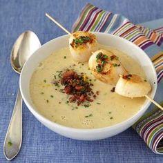 Jordärtskockssoppa med pilgrimsmusslor, det här ska smaka himmelskt. Sätter sambon att tillaga den.