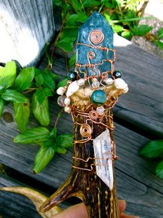 Celtic Sea Witch Healing Wand by EireCrescent on Etsy, $55.99
